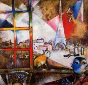 """Am ales pictura, caci imi era la fel de vitala ca aerul. Mi s-a parut o fereastra prin care pot sa-mi gasesc scaparea intr-o alta lume."" (Marc Chagall, nativ Rac)."