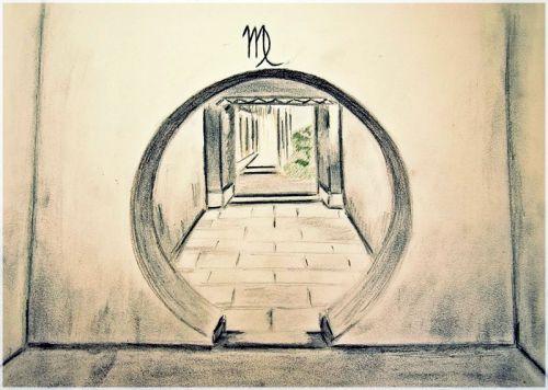 Poarta circulara din gradina Yuyuan, China - adaptare