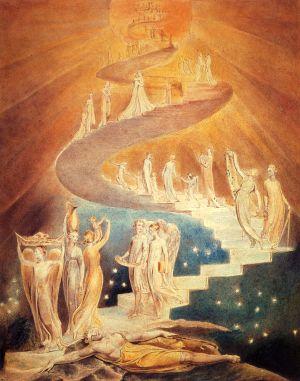 """Scara lui Iacob"" (1806), William Blake"