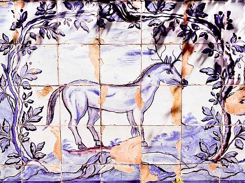Semnul Capricornului. Reprezentare în grădinile Palatului Fronteira, Lisabona