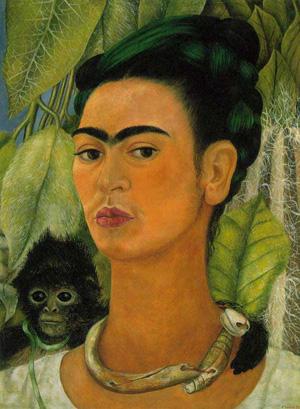 Autoportret cu maimuță, 1938