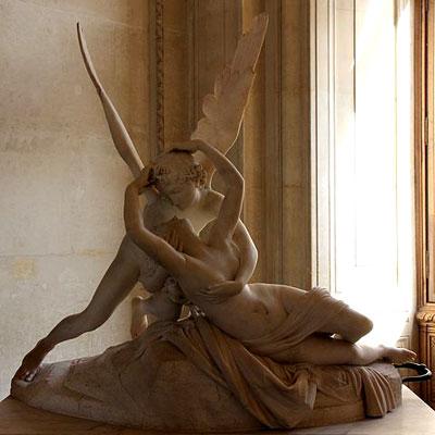 Amor (Cupid) kisses Psyche by Antonio Canova, Louvre
