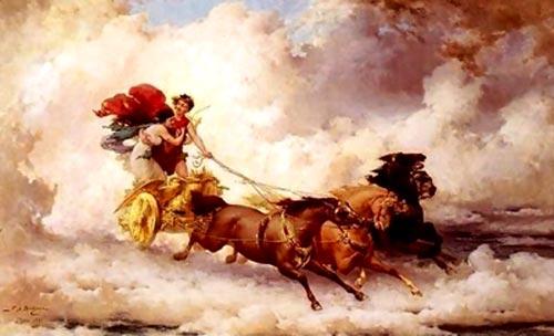 Apollo răpind-o pe Cyrene